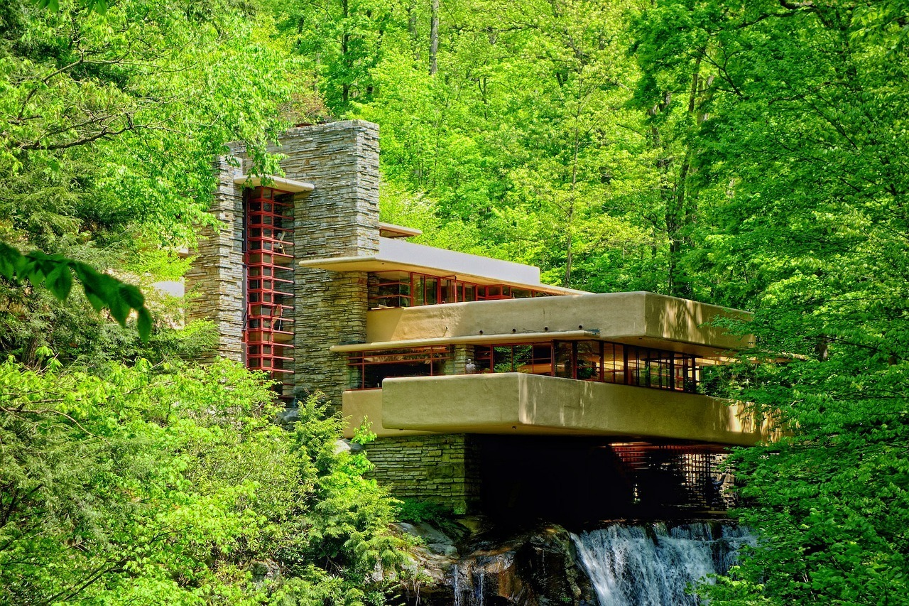 Frank Lloyd Wright's Fallingwater in western Pennsylvania sensory connection