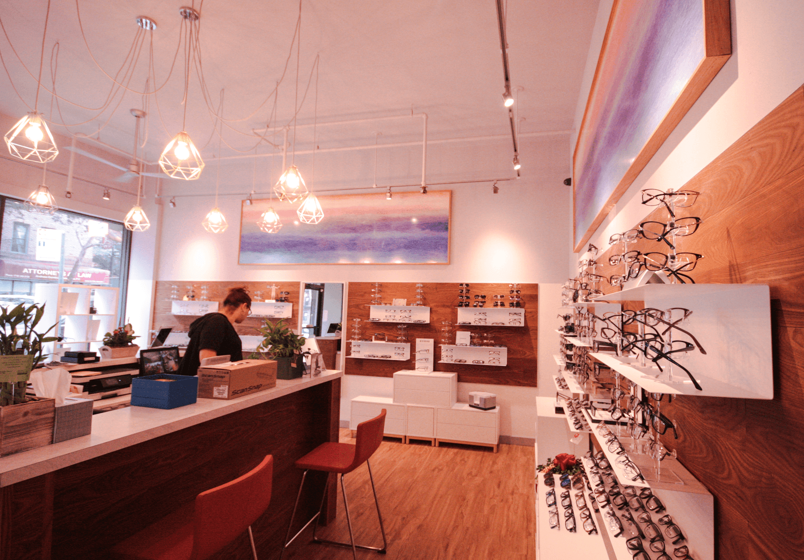 Redwoods Design Studio completes Sunnyside's C Clearly optician renovation.