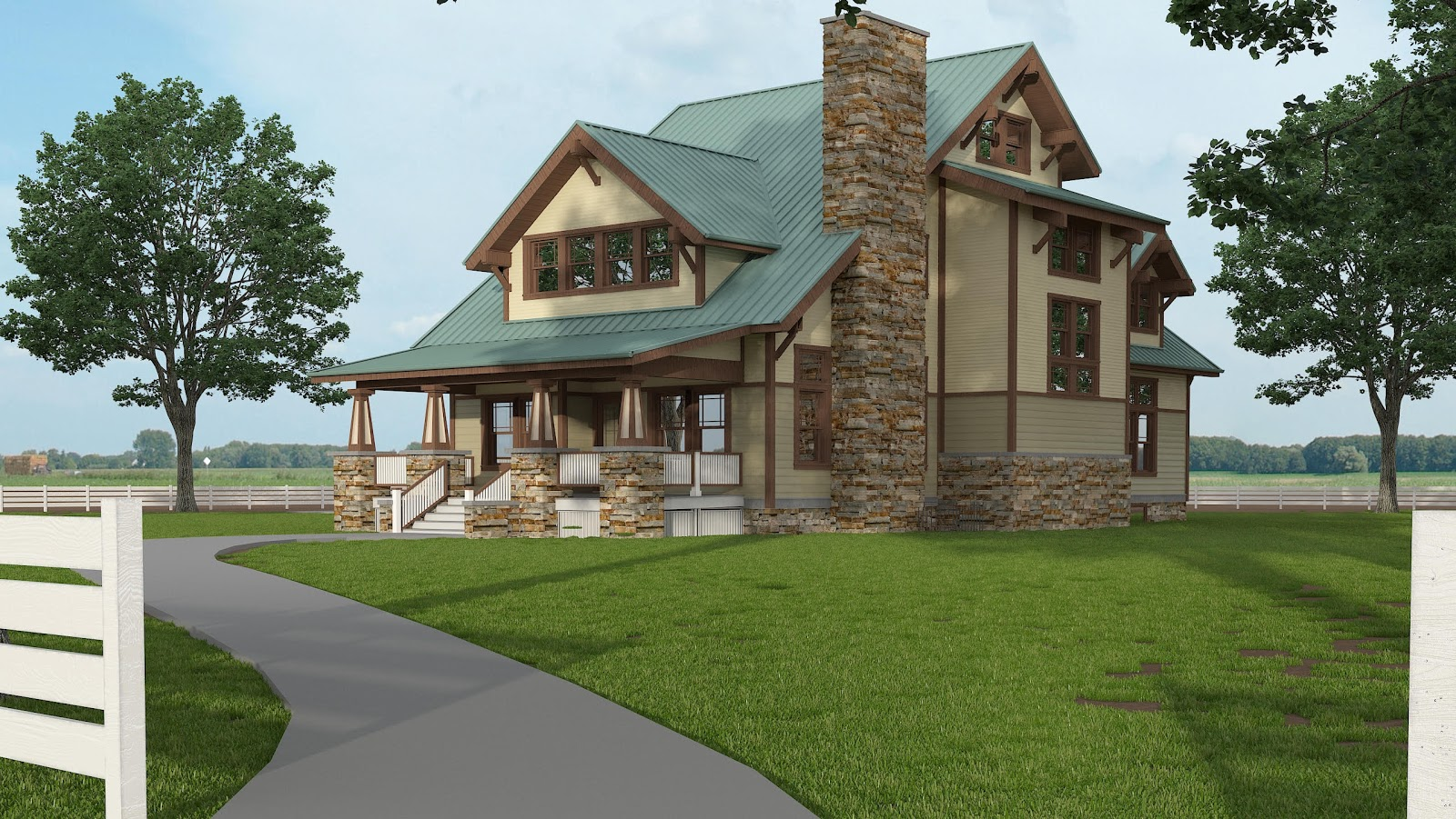 Iowa craftsman style house with family heirlooms